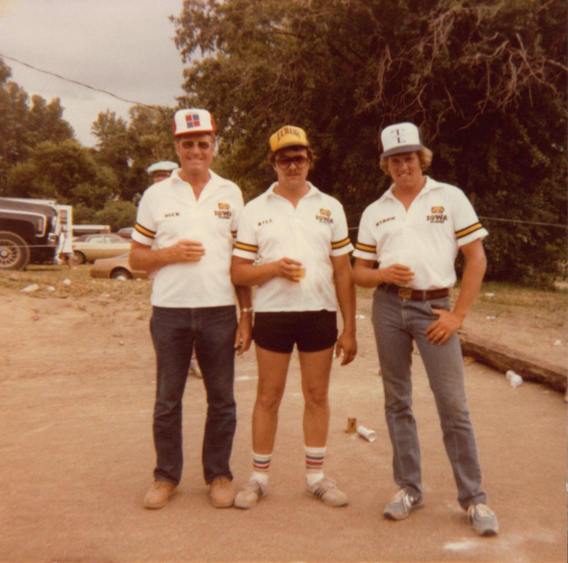 Dick Claeys and with teammates Bill and Myron in 1983