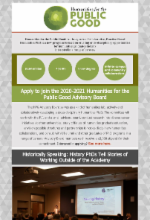 Image of the HPG newsletter published in March 2020