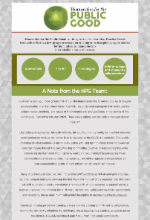 Image of the HPG newsletter published in April 2020