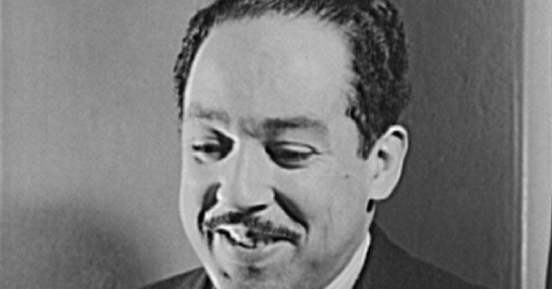 Photo of Langston Hughes in black and white